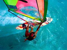 I adore windsurfing.     Windsurfing, Aruba, Caribbean  Photographic Print  by James Kay  item #: 14095051A   art.com