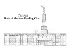 Temple Book of Mormon reading chart.