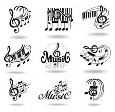 Music Notes Applique Template  Musical Applique Pattern  Kids