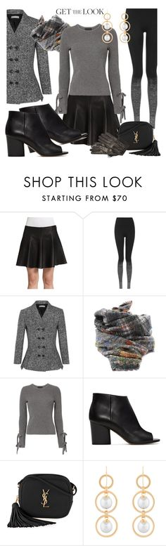 """Spring Trend Leather Mini Skirt"" by simply-one ❤ liked on Polyvore featuring Topshop, Michael Kors, Faliero Sarti, Exclusive for Intermix, Maison Margiela, Yves Saint Laurent, Deborah Grivas Designs and Diane Von Furstenberg"