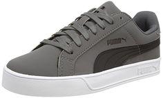 Puma Puma Smash Vulc Unisex-Erwachsene Sneakers, Grau (steel Gray-black), 42.5 EU - http://on-line-kaufen.de/puma/42-5-eu-puma-puma-smash-vulc-unisex-erwachsene