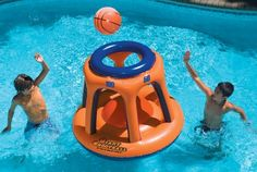 Your kids will have hours of fun with this unique floating game. Giant 45-inch tall inflatable has great basketball action and multi ports for multiple shooters. Made of heavy gauge vinyl giant shoot...