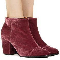 Bota de veludo bordô Taquilla - Taquilla - Loja online de sapatos femininos