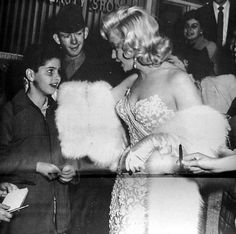Marilyn at the premiere of How To Marry A Millionaire, 1953.