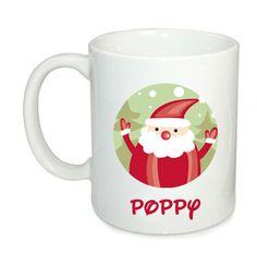 Personalised Christmas mug, Personalized mug, Christmas mug for kids, Father Christmas mug, Personalised gift by cjcprint on Etsy