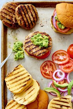 Easy Juicy and Moist Turkey Avocado Burgers. Looking for recipes and ideas for healthy dinners and meals you can make on the stove? You'll need breadcrumbs, greek yogurt, shallots, garlic, seasonings, ground turkey, avocado, cheese, tomato, onion, and buns.