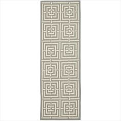 """Safavieh Courtyard Collection CY6937-65 Grey and Cream Area Runner, 2 feet 3 inches by 14 feet (2'3"""" x 14') Safavieh http://www.amazon.com/dp/B00EVQVW1U/ref=cm_sw_r_pi_dp_dFFAvb0Q7X1RY"""