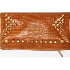 Honey Taylor Leather Clutch Bag