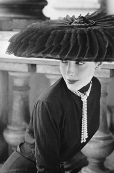 Vintage Hat and Strand Pearls
