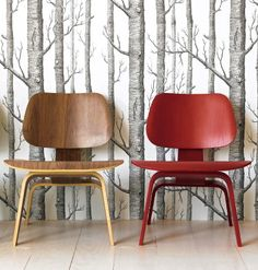 Via Inspiring Designs   Cole and Son Wallpaper   Eames Lcw Chairs