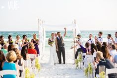 It's a Shore Thing | Full Service Destination Wedding Coordinators | Rosemary Beach Florida | VUE Photography | Florals by the Sea   Emerald Coast, Florida.  Beach wedding.  #destination #wedding #purple #green #ceremony #arbor