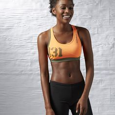 01e5017e61 Reebok Spartan Short Bra - Orange Reebok Clothes
