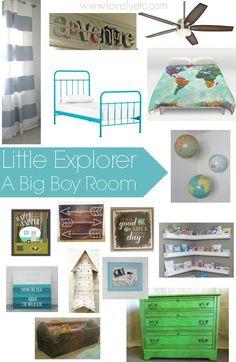 little explorer - a big boy room plan