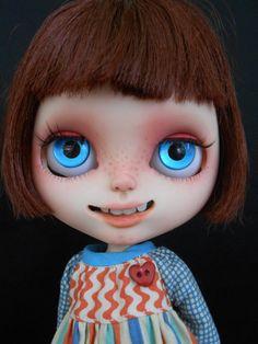 Custom RBL Blythe Doll Faceplates por Spookykidsworkshop en Etsy