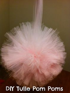 How to make pom poms w tulle