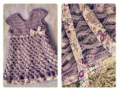 Bella Crochet Toddler Dress (front)