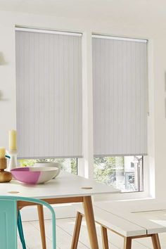 Simple stripes add pattern into a decor without being overpowering. Our Chester Lime Roller blind is a perfect addition to the room.