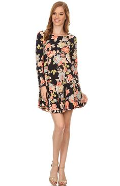 f45554868888 Women s Ladies Floral Print Long Sleeve Relaxed Fit Tunic Dress    Special  product just for you.   Plus size dresses. Clothes   Fashion