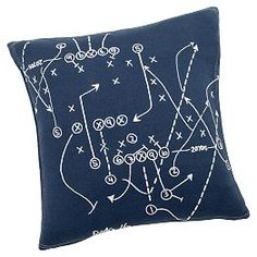 Decorate your bed or couch with plush throw blankets and pillows. Shop Pottery Barn Teen's decorative throw pillows and blankets for staying cozy all day long. Football Nursery, Baby Boy Football, Football Rooms, Football Bedroom, Football Room Decor, Football Birthday, Football Stuff, Baby Boy Rooms, Baby Boy Nurseries