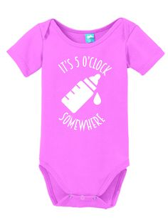 Clothe your young ones while having fun! These adorable onesies that are sure to bring a :) to everyone. Super soft cotton body suits with snap closures at the bottom. Choose sizes from NB up to 24 mo