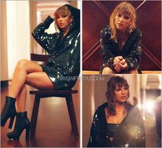 """""""End Game"""" music video   January 12, 2018 DKNY custom 'Sequin Hooded Dress and Bandeau' Taylor's ensemble here of a sequinned hooded dress (not unlike something I would expect to see on the reputation tour) gets a bit of a sexy treatment thanks to a..."""