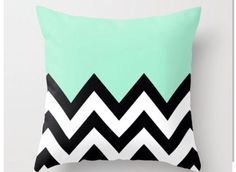 Chevron-Mint pillow... All I want for Christmas and my birthday and Easter and any other holiday is this pillow, I swear.