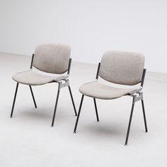 Pair Castelli Chairs Giancarlo Piretti