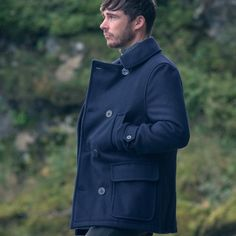 Maritime Pure Wool Peacoat by Shackleton. Made in Britain using ...