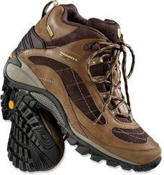 c0192a8bf8 Merrell Siren Waterproof Mid Leather Hiking Boots Leather Hiking Boots, Hiking  Boots Women, Merrell
