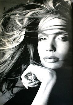Veruschka, with the Great Chrysanthemum Diamond.  Richard Avedon for Vogue US May 1972