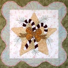 click here to view larger image of Anita's Christmas Quilt - Block 5  (PATTERNS)