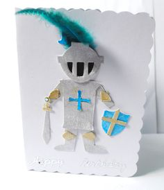 Knight in shining armour 2d &3d card hand by CabbagePatchCards, £2.99
