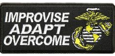 USMC IMPROVISE ADAPT OVERCOME PATCH