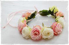 Haarkranz Rosen Hochzeit Braut Haarschmuck  *39* von Kranzverliebt auf DaWanda.com