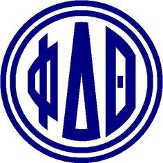 Phi Delta Theta Vinyl Sticker Decal Greek Letter Buy 2 by VinylKC, $3.99