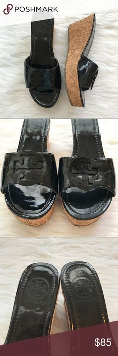 Tory Burch vintage platform cork sandals Some wear and tear but nothing very noticeable! Very gently worn. Open to all offers! Tory Burch Shoes Platforms