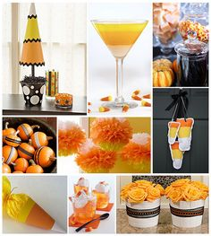 Candy corn topiary would be easy to make