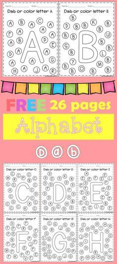Freebies Alphabet Dap A-Z 26 pages. For PreK and Kindergarten.FREE Freebies Alphabet Dap A-Z 26 pages. For PreK and Kindergarten. Preschool Letters, Kindergarten Literacy, Learning Letters, Preschool Kindergarten, Preschool Learning, Preschool Worksheets, Alphabet Letters, Letter Worksheets, Letter Tracing