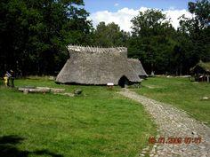 Reproduction Swedish Viking dwelling,Tanumshede, Sweden