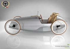 Scuderie Campari has partnered with the designer Christian Grande to present the SC-1 Biposto, a magnificent concept of two-seater velomobile, an electrically assisted pedal-car.