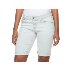 Women's Apt. 9® Bermuda Jean Shorts, Size: 16, Light Blue