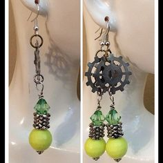 Earrings This is a handmade steampunk earrings for sale. Jewelry Earrings