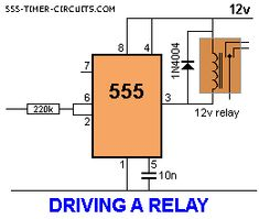 DRIVING A RELAY Circuit
