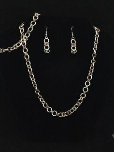 Handmade Chain Maille  set of Earrings by BySunshineDesign on Etsy