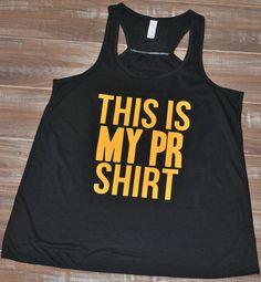 This Is My PR Shirt Tank Top - Crossfit Shirt - Workout Tank top - Fitness Shirt For Women