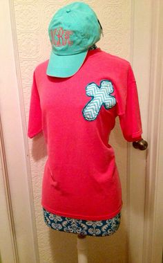 Ladies short sleeve raggy cross shirt. Applique cross. Assorted colors and fabrics. Comfort Colors on Etsy, $20.00