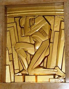 Chanin used his own architectural department head, Jacques I. Delamarre and Rene Chambellan, an architectural sculptor, to decorate the interiors. Fantastic Art Deco grills, elevator doors, mailboxes and sculptures greeted the visitor. Two bronze-painted plaster reliefs by Chambellan represent Achievement and Success. The means to gain these are represented in six matching reliefs: three are physical, Effort, Activity and Endurance; and three are mental, Enlightenment, Vision, and Courage.
