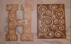 DIY Antiqued Foil Monograms | Something to be Savored