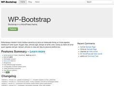 Bootstrap in a Free WordPress Theme. http://www.csshero.org/themes/wp-bootstrap/ http://320press.com/wpbs/