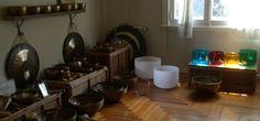 cuencos de metal, gongs, cuencos de cuarzo.  metal bowls, quartz crystal singing bowls en sonidos que curan